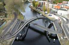 Cris-Crossing Overpasses - The Melkwegbridge by NEXT Architects Addresses Two Traffic Needs
