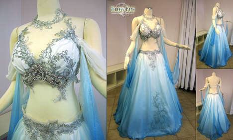 Midriff-Baring Wedding Dresses