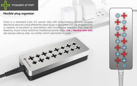 X-Shaped Power Bar Slots