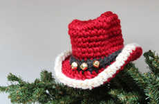 Festive Baby Jingle Tuques - An Adorbale Newborn Santa Cowboy Hat for a New Member of Your Family