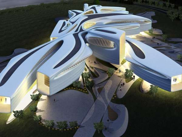 100 Contemporary Curvilinear Structures