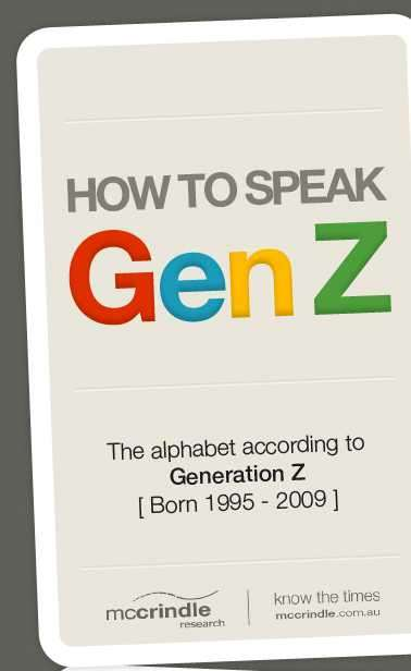 Gen Z Vocabulary Charts - The Infographic Helps You Fast Track Your Way to Generation Z Lingo