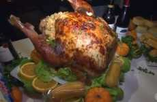 Snack-Stuffed Turkeys - This Different Turkey Recipe Incorporates the Classic Cake into the Mix