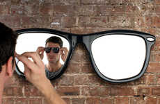 Sunglasses-Shaped Furniture - The Looking Good Mirror by Thabto is Made for Hipsters