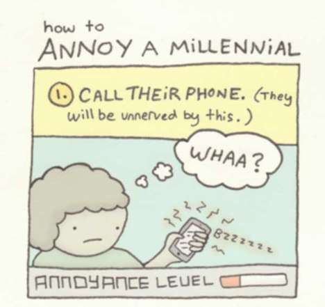 Modern Communication Mishaps - How to Annoy Millennials Comic Depicts a Common Mistake in Voicemails