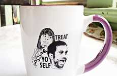 Comical Sitcom Coffee Cups - The 'Parks and Recreation' Mug Urges You to 'Treat Yo' Self'