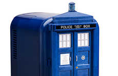 Sci-Fi Phone Booth Coolers - The TARDIS Mini Fridge is a Dr. Who-Themed Food-Saver