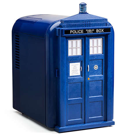 Sci-Fi Phone Booth Coolers