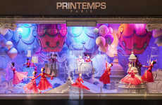 Haute Couture Holiday Displays - Printemps Christmas Windows Bring Luxe to the Holidays with Dior