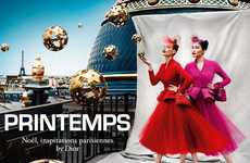 Floating Ornament Fashion Ads - The Dior for Printemps Holiday 2012 Campaign is Festively Surreal