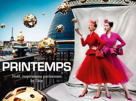 Floating Ornament Fashion Ads