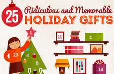 Crazy Christmas Gift Infographics - These Ridiculous Memorable Holiday Gifts Show Past Errors