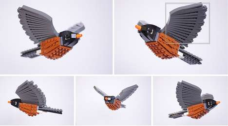 Feathery LEGO Sculptures