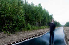 Extreme All-Trampoline Trails - A Forest in Russia Gets Outfitted with 170-Foot Outdoor Trampoline
