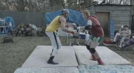 Spoofed Wrestler Commercials