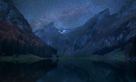 Mountainous Constellation Photography