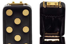 Designer Phone Shielding Clutches - The Phone in a Box Dots Purse is Mainly Designed for Your Cell