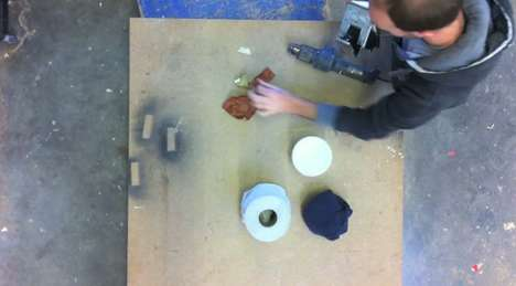 Carved Wooden Cameras