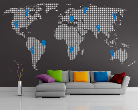 Google Maps-Inspired Wall Decals