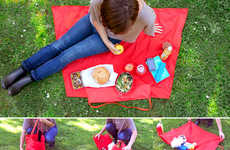 Unzipping Blanket Totes - The Yield Picnic Bag Boasts a Flexible Unfolding Design