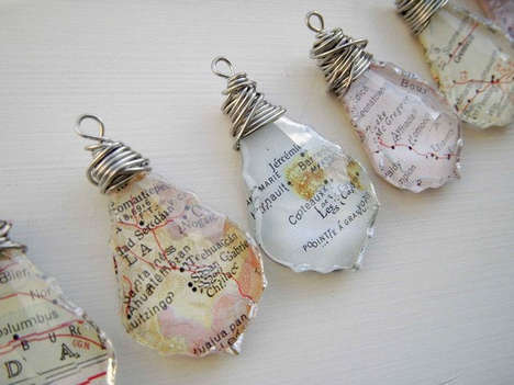Geographic Crystal Necklaces