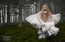 Countryside Fairy Tale Captures - The Harper's Bazaar UK Issue Stars Josephine Skriver