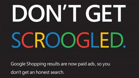 Aggressive Search-Ranking Ads - The Scroogled Google vs. Bing Ad Jabs at Ranking Systems