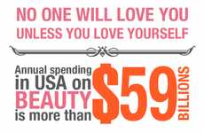 Beauty Expense Infographics - 'Cost of Beauty' Graph Follows America's Rising Expenditures