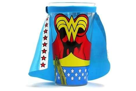 Superhero Guzzling Glasses