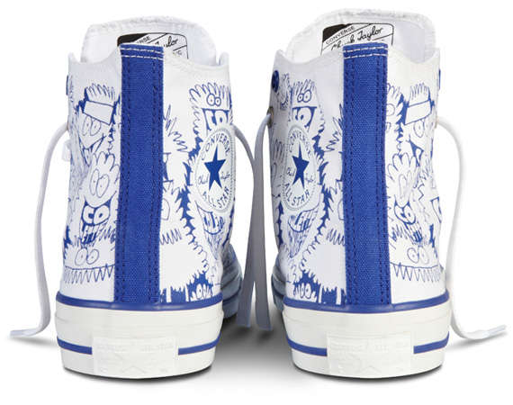 Scribbled Monster Sneakers : Kevin Lyons x Converse