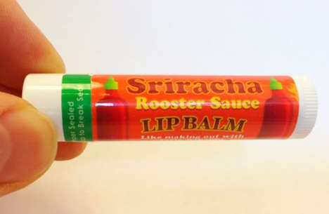 Spicy Condiment Lip Salves - The Sriracha Lip Balm Leaves Lips Feeling Warm and Savory