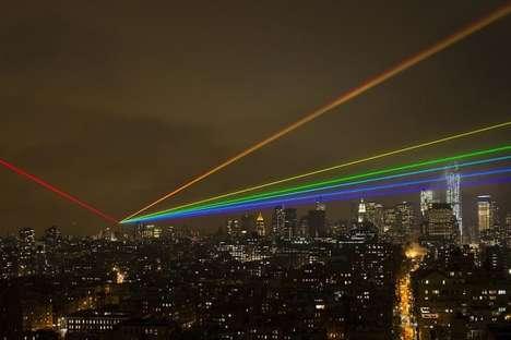 Rainbow Laser Beam Artwork