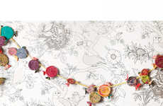 Gourmet Lollipop Garlands - Add These Tasty Treats to Any Space for a Sugary Sweet Accent