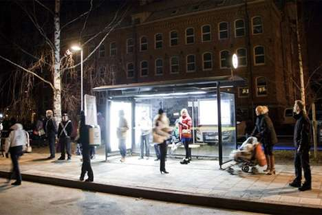 SAD-Combating Commuter Shelters - The Umea Bus Stops Helps Relieve Depression During Winter