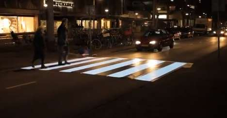 Flashing Zebra Crosswalks