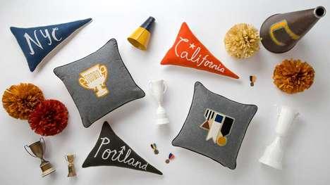 Preppy Pennant Cushions