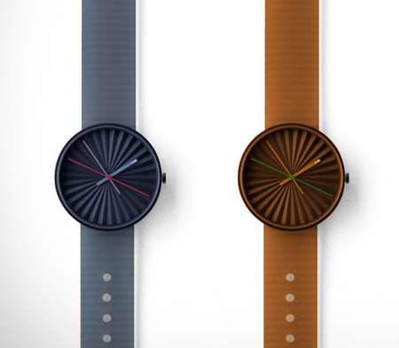 Pleated Surface Timepieces