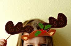 Christmas Photo Booth Decals - The Christmas Props Make Adorable Features for the Little Ones