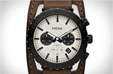 Frugal Aviation Timepieces - The Keaton Leather Watch by Fossil is Aviation Style on a Budget