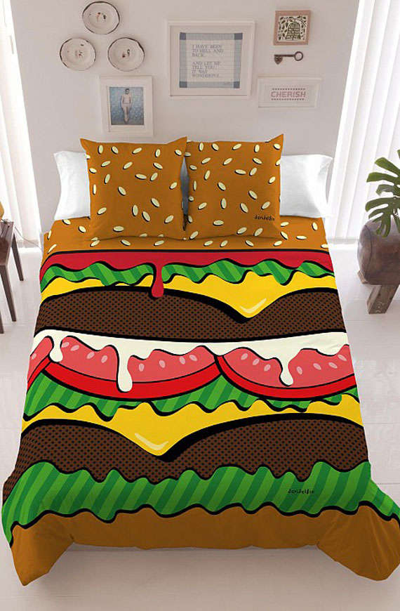Fast Food-Inspired Bed Sheets