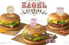 Breakfast-Inspired Hamburgers - McDonald's Bagel Burgers Make a Limited Time Entrance in France