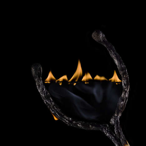 Crumbling Flame Photography