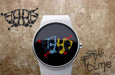 Street Art-Inspired Timepieces - The Graffiti Watch is a Sensational Modern Ticking Timepiece