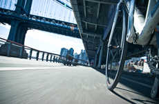 Wheel Mounted Photography - NYC by Bike Photo Series Captures the City at Wheel Level