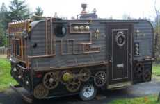 Victorian Mobile Food Vendors - The Steampunk Food Cart Lets You Sell Food Like It is 1876
