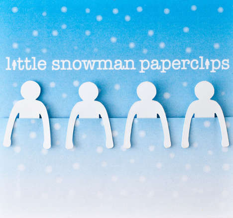 Festive Frosty Stationery - Little Snowman Paperclips Bring Xmas Cheer to the Office