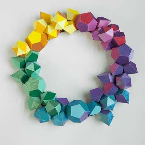 Vibrant Polygonal Wreaths