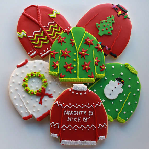 Hideous Sweater Sweets Ugly Christmas Sweater Cookies
