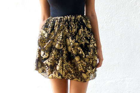 DIY Designer-Inspired Skirts - Ladies Wearing the 'a pair and a spare' Lace Skirt Will be Envied