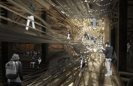 Lumber Lattice Walkways